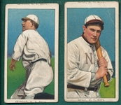 1909-1911 T206 Seymour & Doyle, Piedmont Cigarettes, Lot of (2) *Name Top & Bottom*