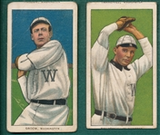 1909-1911 T206 Groom & Tannenhill, Piedmont Cigarettes, Lot of (2) *Name Top & Bottom*