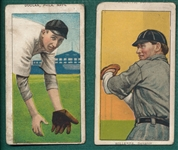 1909-1911 T206 Doolan & Willetts, Piedmont Cigarettes, Lot of (2) *Name Top & Bottom*