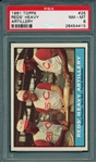 1961 Topps #25 Reds Heavy Artillery W/ F. Robinson PSA 8