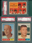 1961 Topps #34 Hawkins, #48 AL Pitching Leaders & #53 Nixon, Lot of (3) PSA 8