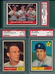 1961 Topps #151 Donohue, #173 Beantown Bombers & #212 Sullivan, Lot of (3) PSA 8