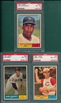 1961 Topps #97 Lynch, #363 Roseboro & #385 Perry, Lot of (3) PSA 8