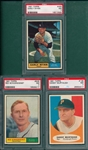1961 Topps #138 Murtaugh, #505 Schoendienst & #455 Early Wynn, Lot of (3) PSA 7