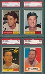 1961 Topps #139, #209 #510 & #440 Aparicio, Lot of (4) PSA 7
