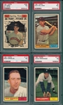 1961 Topps #8 D. Williams, #112, #113 & #584, Hi #, Lot of (4) PSA 7