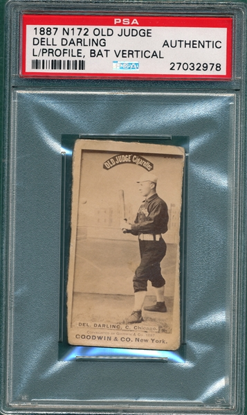 1887 N172 115-5 Dell Darling Old Judge Cigarettes PSA Authentic