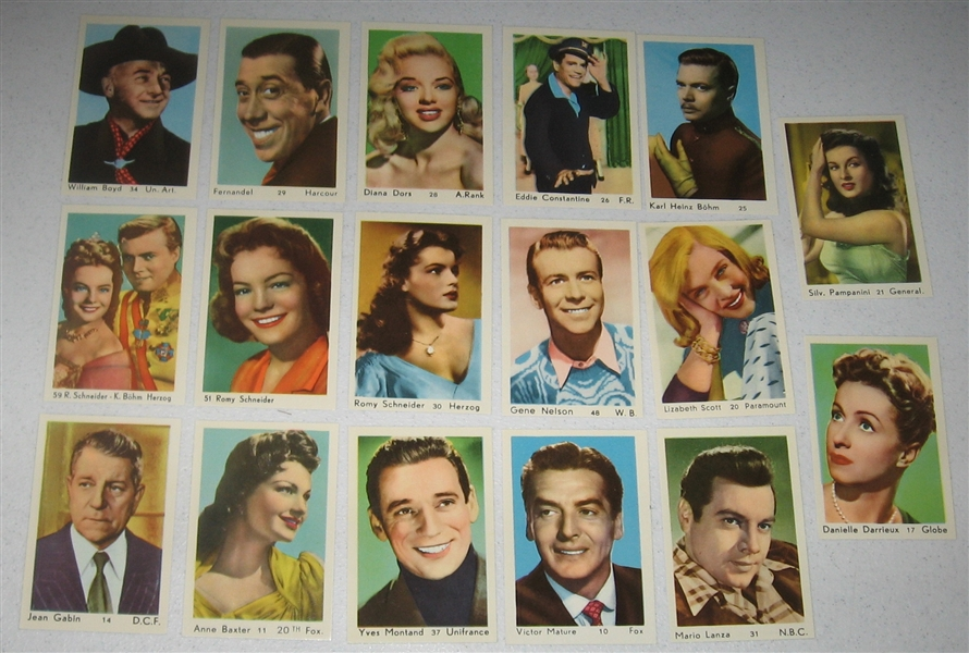 1950 Maple Leaf Film Stars Lot of (23) W/ Maureen O'Hara