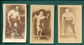 1948 Topps Magic Photo Wrestling Champions, Series D, Lot of (15)