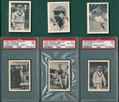 1939 World Of Sports, African Tobacco Lot of (6) W/ PSA 7