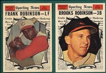 1961 Topps #572 B. Robinson, AS & #581 F. Robinosn, AS, Lot of (2) *Hi #*