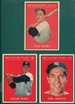 1961 Topps #471 Rizzuto, MVP, #472 Berra, MVP & #478 Maris, MVP, Lot of (3)