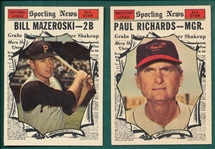 1961 Topps Lot of (6) High Numbers W/ #571 Mazeroski AS