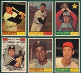 1961 Topps Lot of (6) High Numbers W/ #563 Cerv