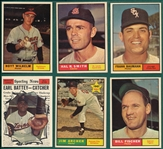 1961 Topps Lot of (6) High Numbers W/ #545 Hoyt Wilhelm