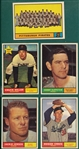 1961 Topps Lot of (5) High Numbers W/ #554 Pirates Team