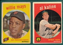 1959 Topps Lot of (39) W/ Mays