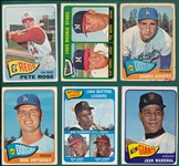 1965 Topps Lot of (235) W/ Perez, Rookie, Rose & Koufax