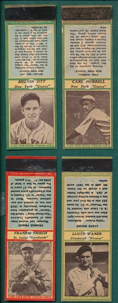 1934-36 Diamond Matchbook Baseball Lot of (19)