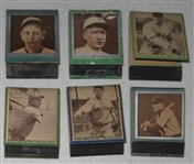 1934-36 Diamond Matchbook Baseball Lot of (6) Full Matchbooks