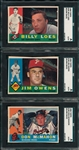 1960 Topps #181, #185 & #189, Lot of (3) SGC Authentic *Blank Backs*