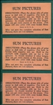 1931 Sun Pictures Negatives Lot of (3) Unopened Packages