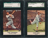 1961 Golden Press #4 Greenberg & #8 Dean, Lot of (2) SGC 92