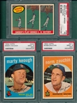 1960 Topps #303 PSA 9 (PD), #311 PSA 9 (OC) & #468 Sniders Play PSA 7, Lot of (3)