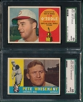 1960 Topps Lot of (6) W/ #515 Lopata, Hi #, SGC