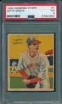 1934-36 Diamond Stars #1 Lefty Grove PSA 3