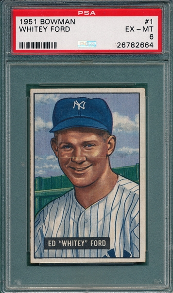 1951 Bowman #1 Whitey Ford PSA 6 *Rookie*
