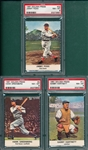 1961 Golden Press #4 Greenberg, #11 Hartnett & #22 Foxx, Lot of (3) PSA 8
