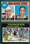 1968 Topps #247 Bench, Rookie & 1971 Topps #5 Munson, Lot of (2)