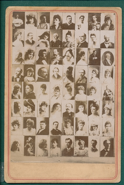 1890's N566 Newsboy Cabinets Checklist Card with US Presidents and Boxer John L. Sullivan