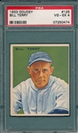 1933 Goudey #125 Bill Terry PSA 4