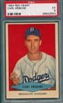 1954 Red Heart Carl Erskine PSA 5
