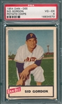1954 Dan Dee Potato Chips Sid Gordon PSA 4