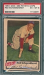 1954 Dan Dee Potato Chips Red Schoendienst PSA 6
