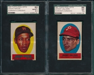 1963 Topps Peel-Offs Lot of (5) W/ Hinton SGC 92