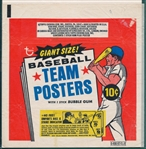 1969 Topps Team Posters Complete Set of (5) Wrappers