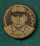 1910-12 P2 Pin Walter Johnson Sweet Caporal Cigarettes