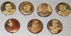 1910-12 P2 Pins Sweet Caporal Cigarettes, Lot of (25) W/ Baker & Bender (2)