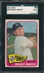 1965 Topps #350 Mickey Mantle SGC 50