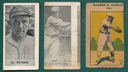 1921/28 Yuenglings & Strip Card, Lot of (3) Miscuts