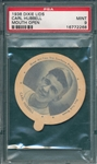 1938 Dixie Lids Carl Hubbell, Mouth Open, PSA 9 *MINT*