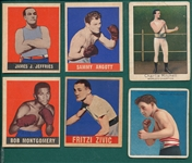 1910-48 Boxing Lot of (6) W/ 48 Leaf Jefferies