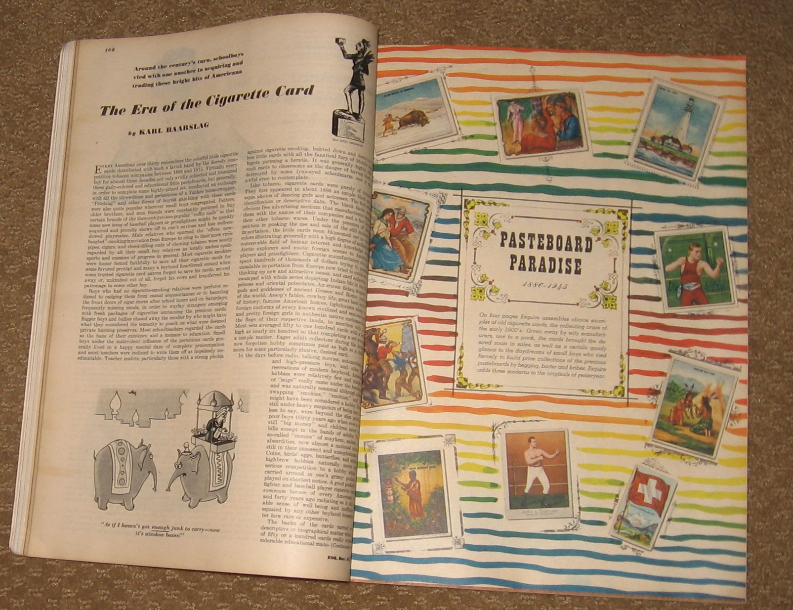 Lot Detail - 1945 December, Esquire Magazine W/ Ad For Trade Cards
