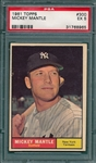 1961 Topps #300 Mickey Mantle PSA 5