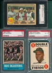1963/68 Topps Roberto Clemente Lot of (3) W/ 1963 #18 Buc Blaster PSA 5