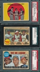 1959/68 Topps Roberto Clemente Lot of (3) W/ 1959 #543 Corsair OF Trio PSA 4